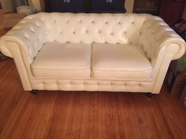 unique 3 piece white leather set   couches futons   kingston   kijiji unique 3 piece white leather set   couches futons   kingston      rh   pinterest
