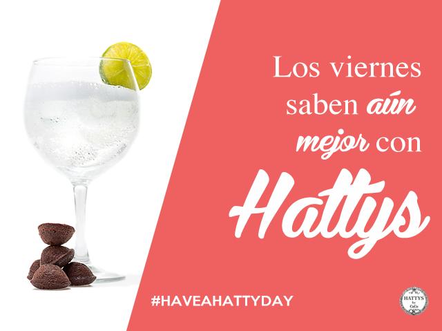 La amargura del gin tonic hace un maridaje perfecto con la esponjosidad y dulzura de los Hattys. Un placer para los paladares más golosos y gourmet. Y un premio estupendo con el que homenajear la llegada del fin de semana.  #haveahattyday