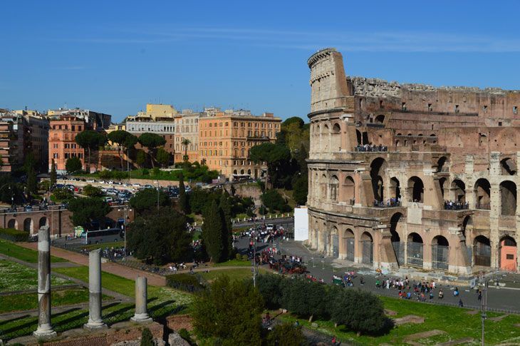 Looking Over Ancient Rome From Palatine Hill Ancient Rome Rome Ancient Civilizations