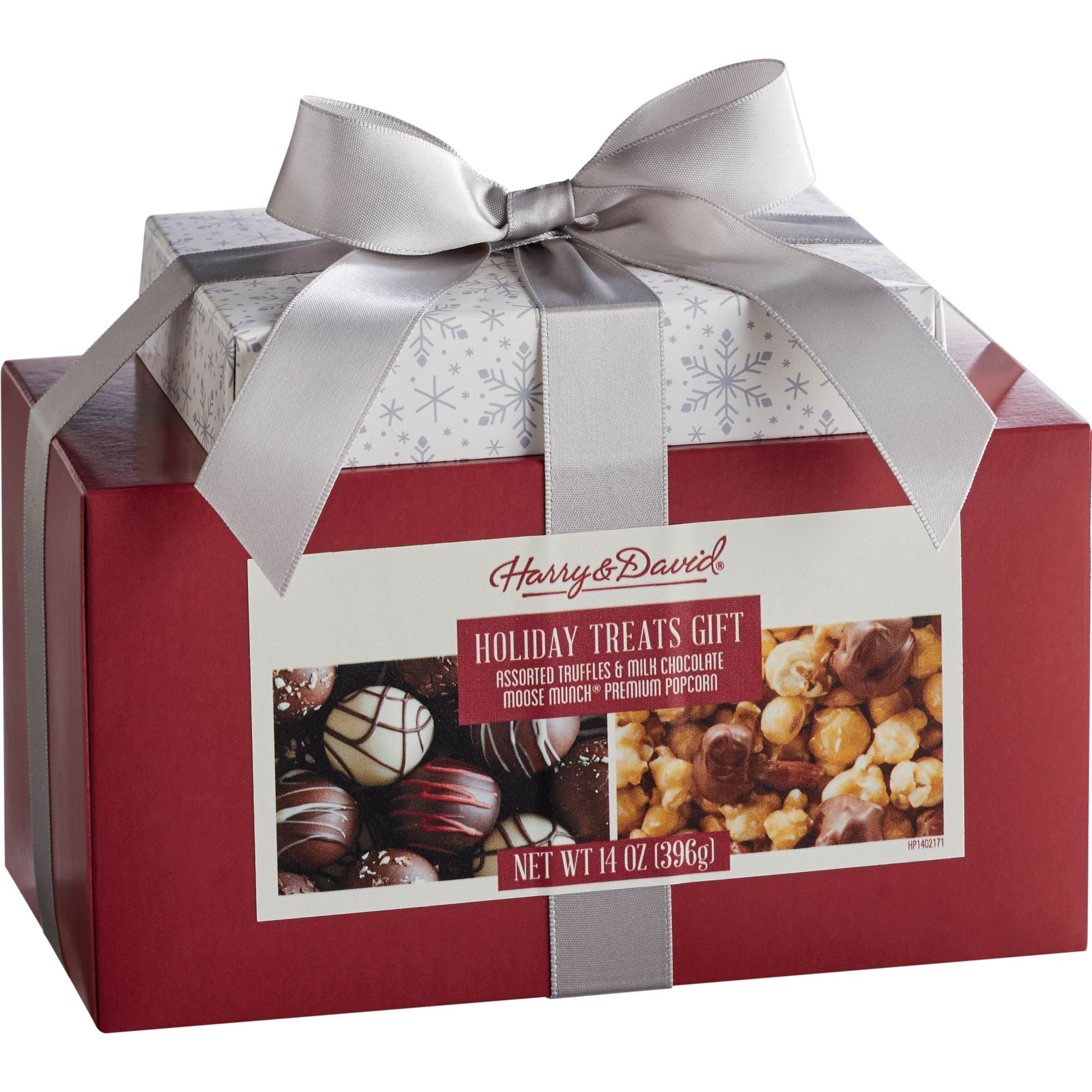 This Gift Set From Harry David Features A 4 Oz Box Of Assorted Truffles And A 10 Oz Box Of Their Milk Choc Holiday Treats Gifts Holiday Treats Gift Towers