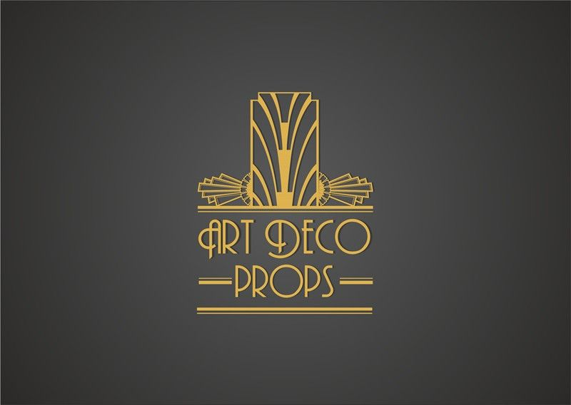 Art Deco Wedding Prop Logo by AnaLogo  hotel  Art deco