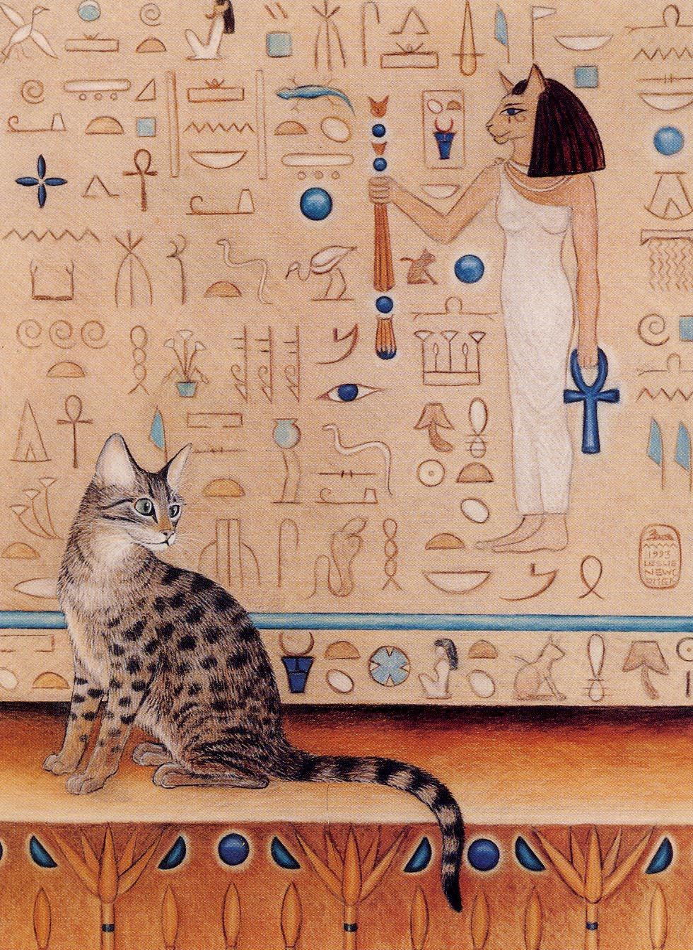 egyptian mau cat art print egyptian temple mennefer by eyedeas