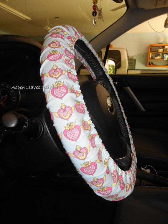 Sailor Moon Steering Wheel Cover Hearts On By