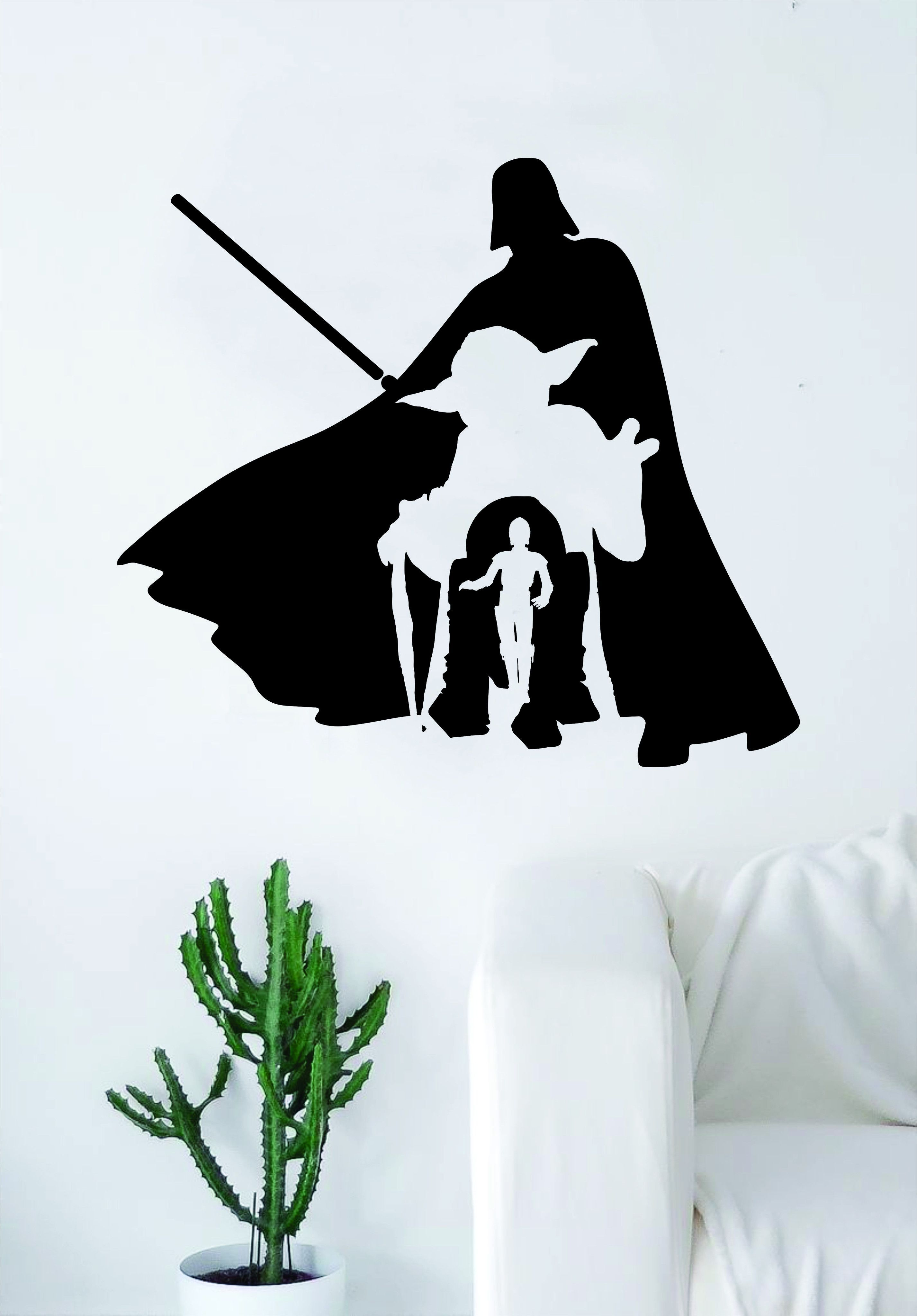 Star Wars Collage V2 Quote Decal Sticker Wall Vinyl Decor
