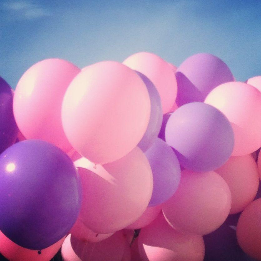 Pink Purple Balloons Miss Piggy Purple Balloons