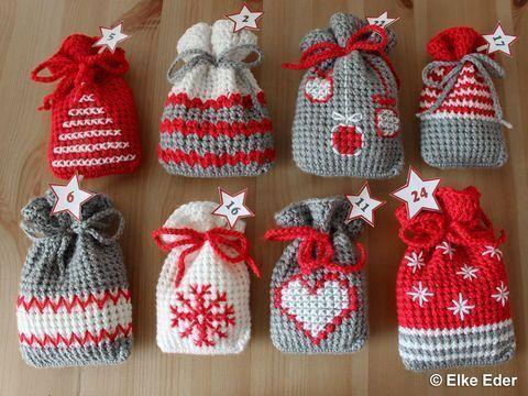 Photo of Adventskalender Geschenkbeutel Häkelanleitung # häkeln ideen weihnachten #klei …, #Adventsk …
