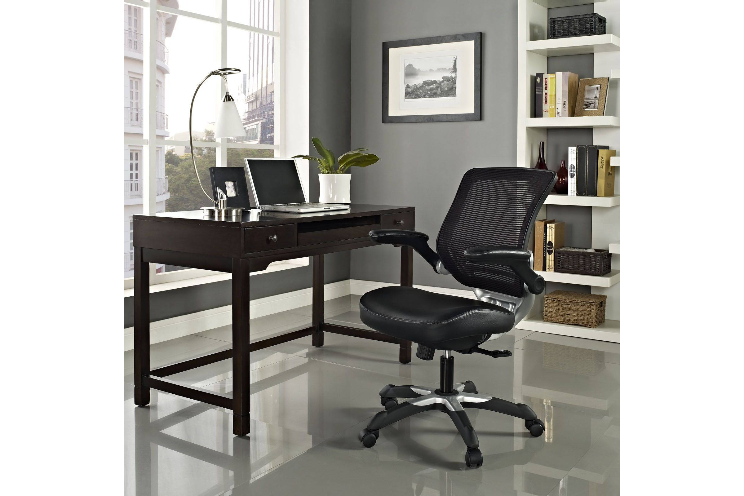 Excellent Edge Vinyl Office Chair In Black By Modway Products In Ocoug Best Dining Table And Chair Ideas Images Ocougorg