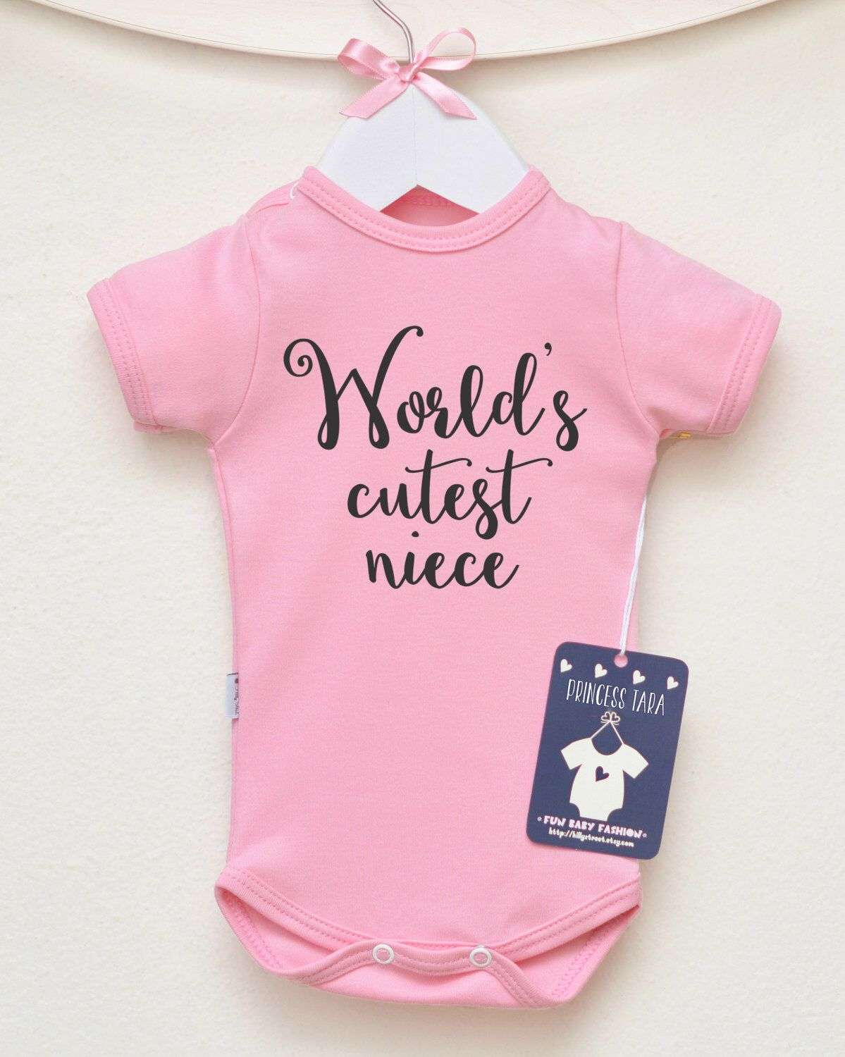 1e7adc2ef7228 World s Cutest Niece Baby Bodysuit. Aunt Baby Clothes. Niece Gift from Aunt  and Uncle