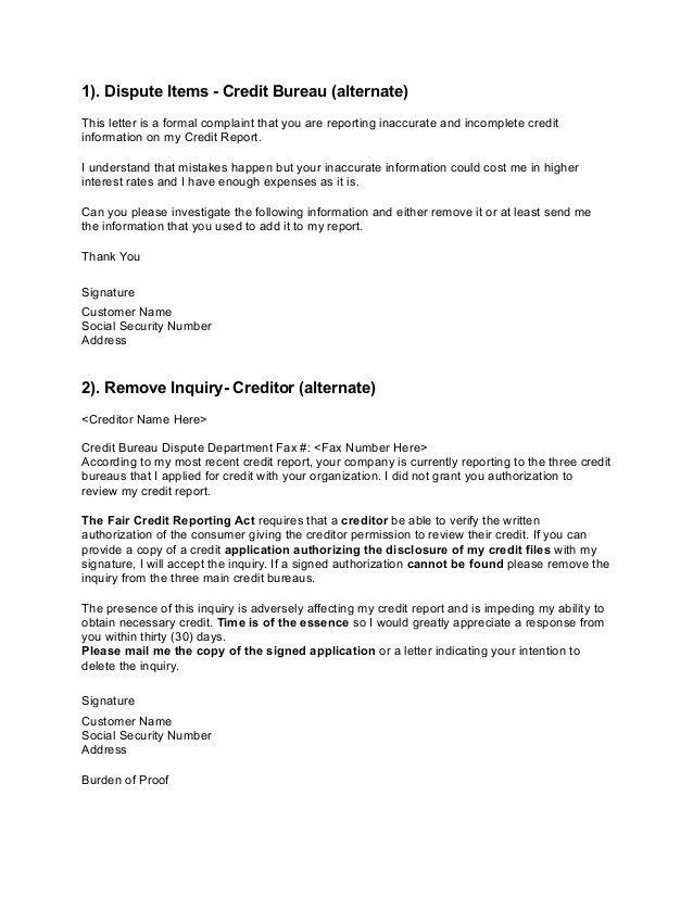 credit-dispute-letters-2-638 Credit Scores Pinterest