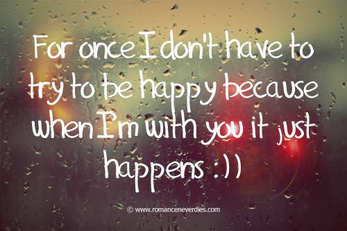 happy with you quotes love
