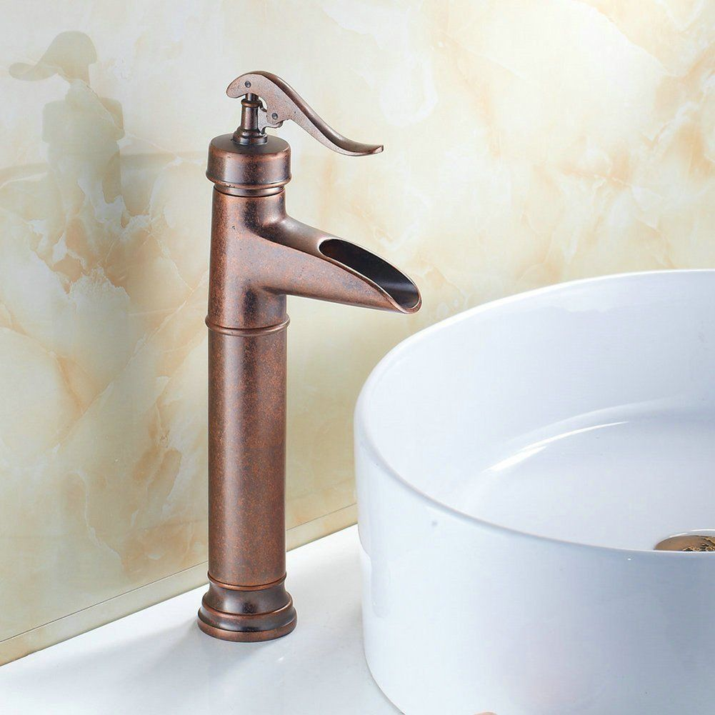 Fuloon Vintage Style Single Control Rustic Bathroom Faucet, Antique ...