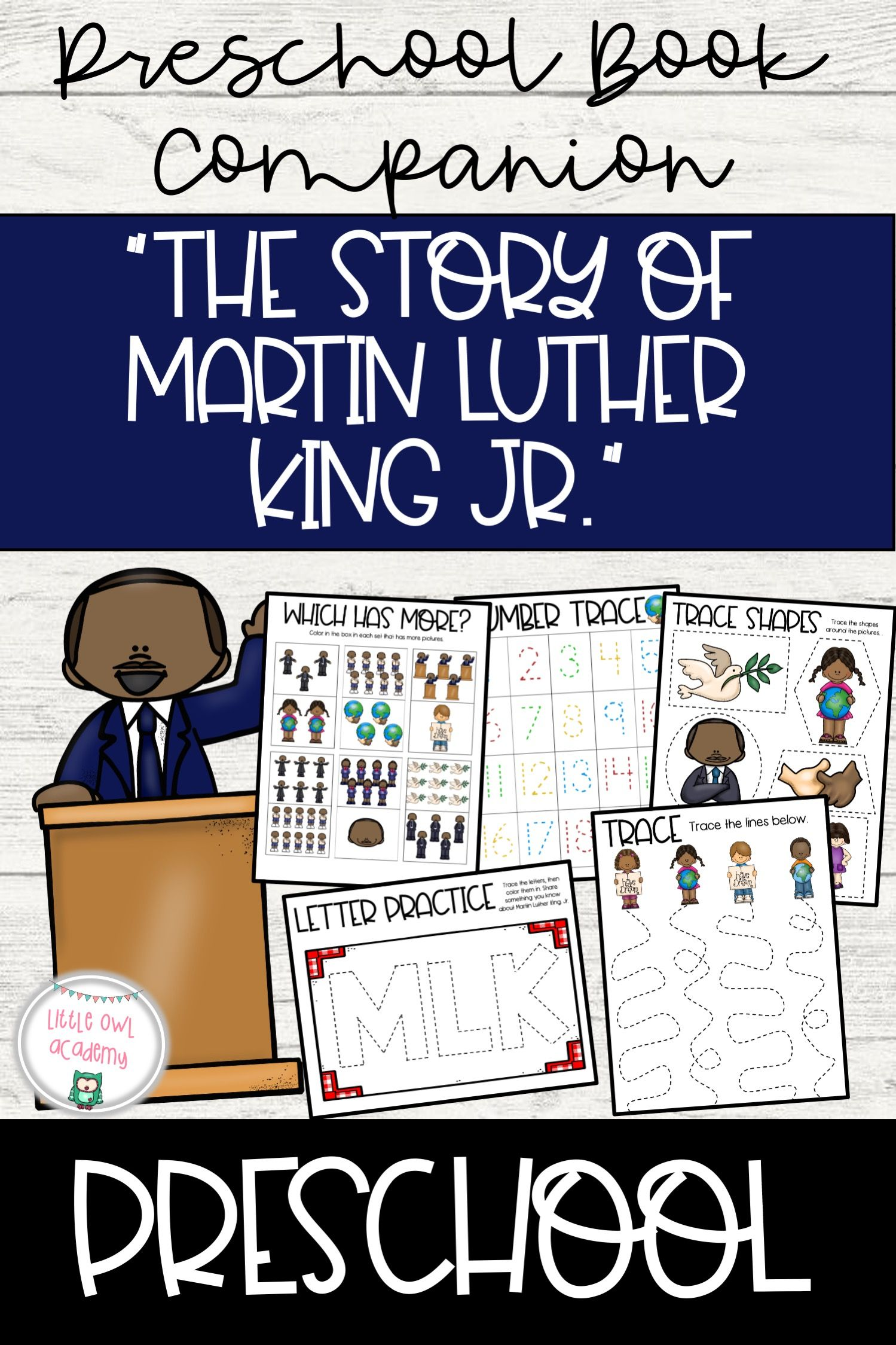 The Story Of Martin Luther King Jr Preschool Book