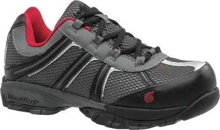 b6e9527a6d8 Nautilus Safety Footwear Men's,Gray/Red Athletic Style Work Shoes,7 ...