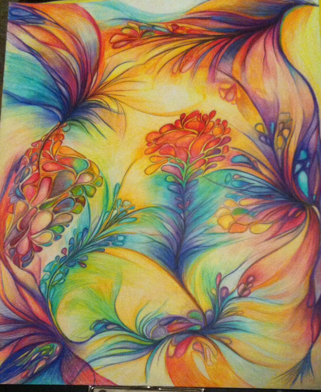 Colored pencil drawing pencil drawings of flowers