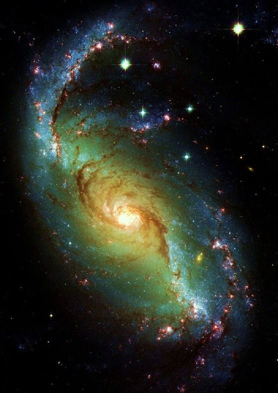 NGC 1672 is a barred spiral Seyfert II galaxy, more than 60 million light-years away in the direction of the southern constellation Dorado.