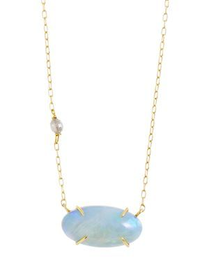 ROSANNE PUGLIESE opal and diamond necklace