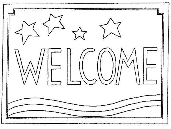 Welcome Mat Coloring Page Sketch Coloring Page Rug Hooking