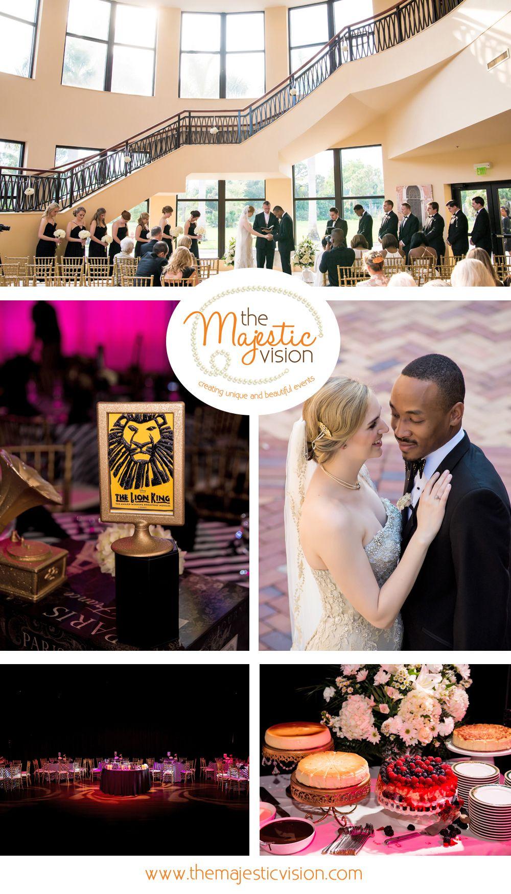 Elegant Broadway Theme Wedding Reception The Majestic Vision Planning Borland Center In Palm Beach Fl Www Themajesticvision