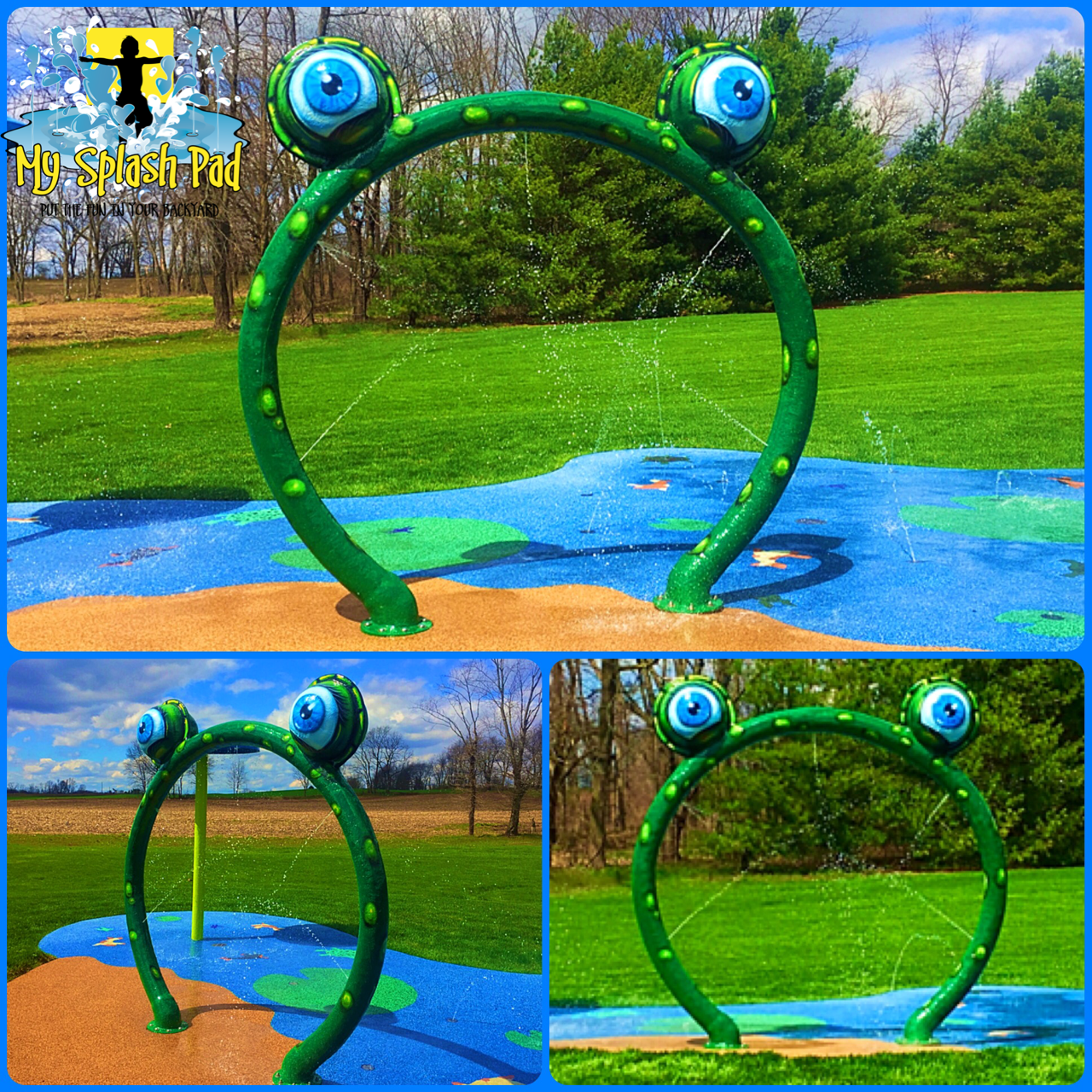 new feature our frog hoop is a great water play above ground