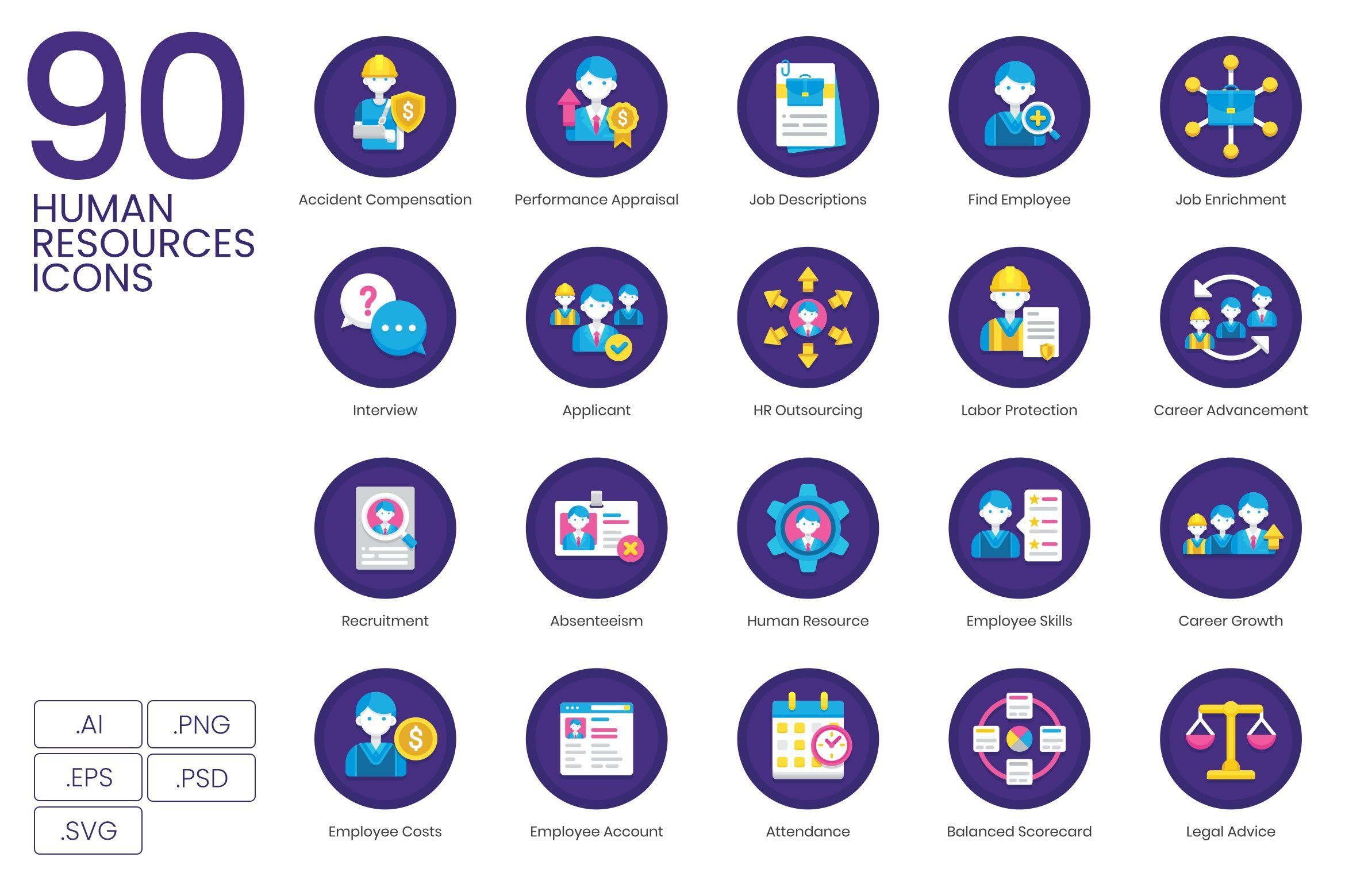 90 Human Resources Icons Resources Icon Marketing Icon Business Icon