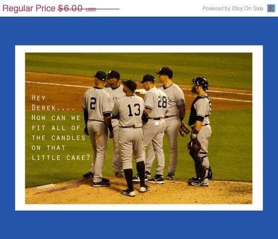 New York Yankees Birthday Card Funny Birthday Card Baseball Etsy Yankees Birthday New York Yankees Birthday Cards