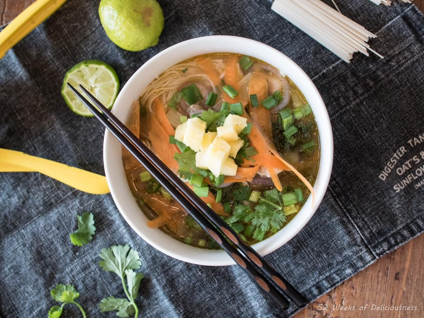 Lime & Pineapple Noodle Soup