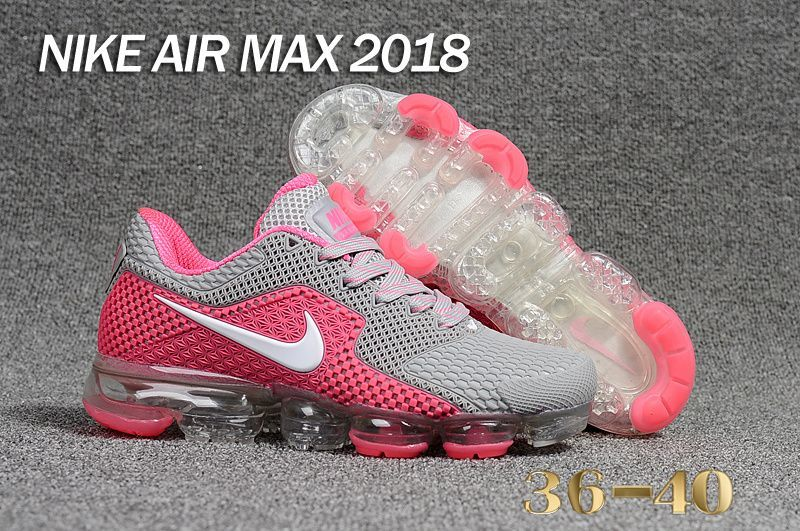 check out b4731 d55ee Authentic Nike Air VaporMax 2018 KPU Light Grey Pink White
