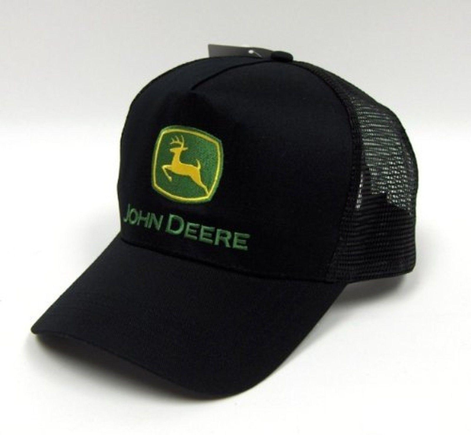 379cc445fdd273 Original John Deere Logo Adjustable Black Mesh Hat | Products ...