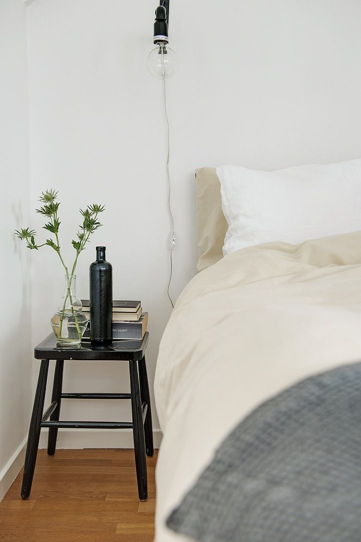 beautifully styled bedside table