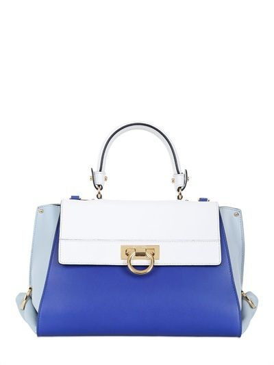 Salvatore Ferragamo Small Sofia Color Block Leather Bag on shopstyle ... 030ee2e248c7c