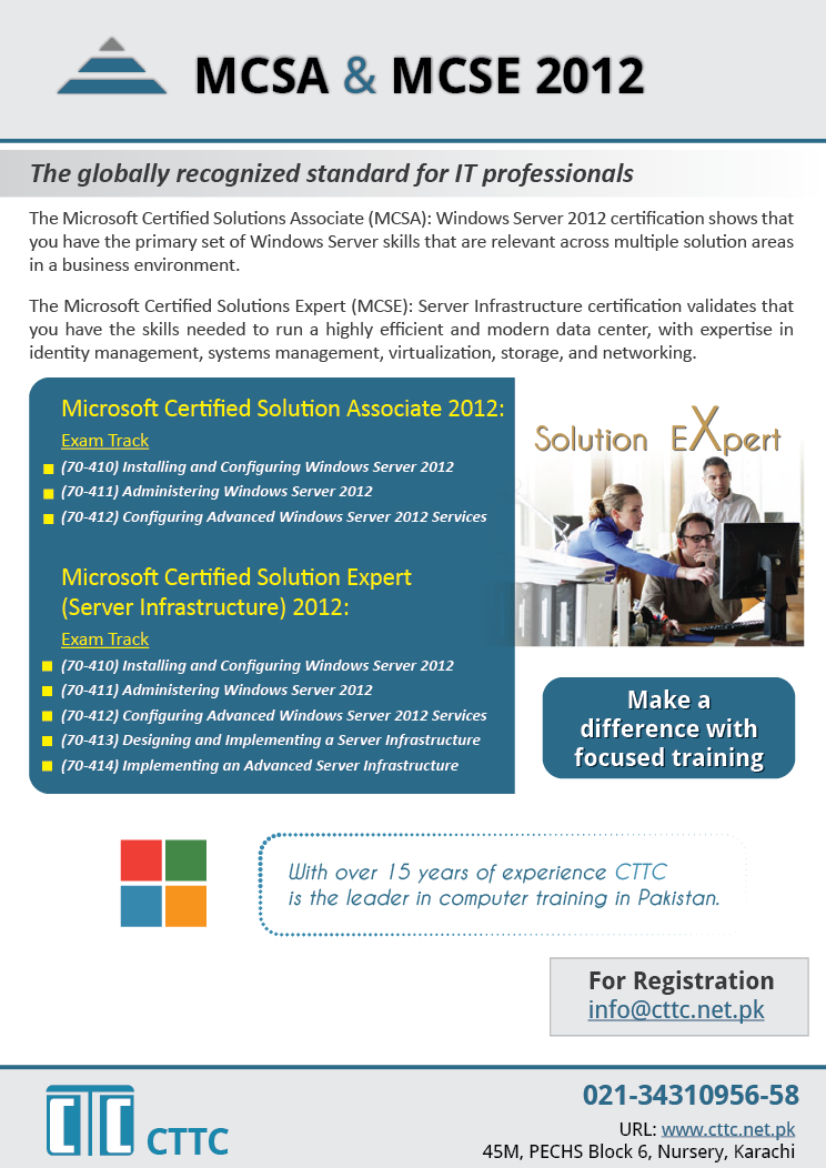 Mcsa Mcse 2012 The Microsoft Certified Solutions Associate Mcsa