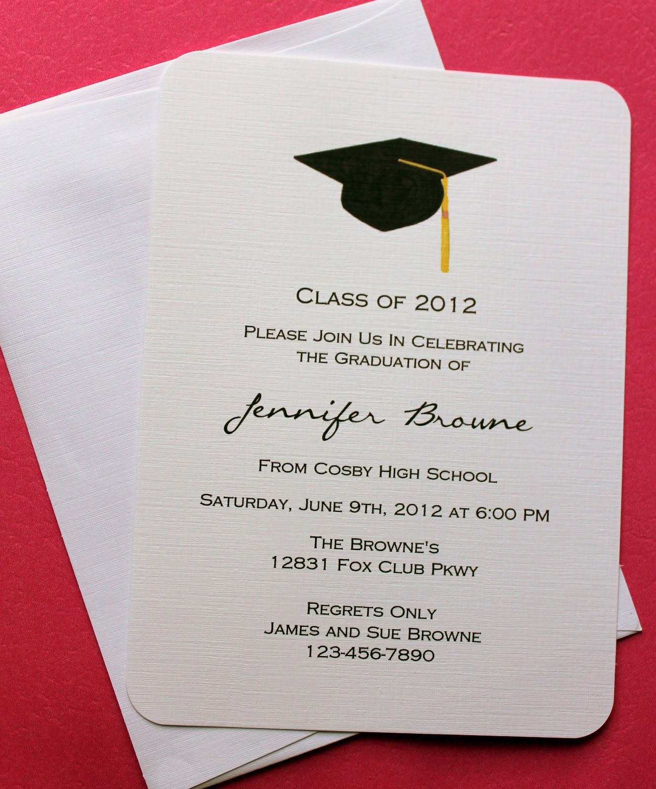 graduation invitation sample graduation invitation sample