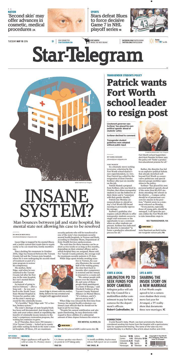 Fort Worth Star-Telegram 5/10/16 via Newseum | Newspaper