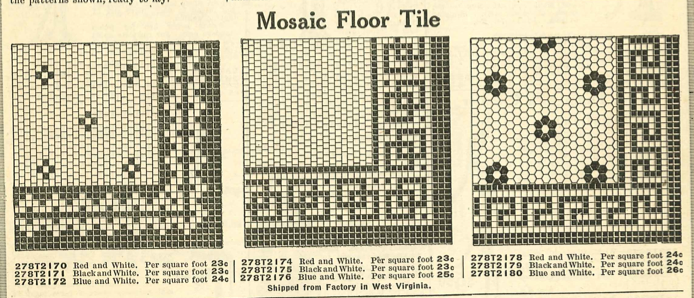 Laurelhurst Craftsman Bungalow Bathroom Research Mosaic Tile Patterns From A 1910 Ward S Catalog