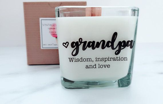 NEW Grandpa Soy Candle~Grandpa Gifts~Grandfather Wedding Gift~Personalized Wedding Candles~Bridesmaid Boxes~Grandpa Birthday Gifts~