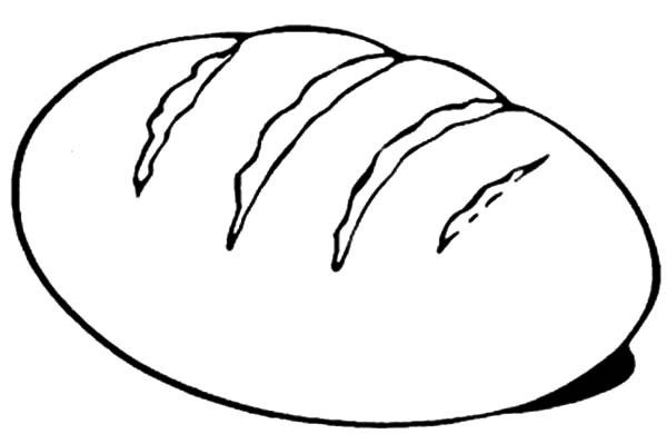 Coloring Pages Bread Drawing For Kids Online Coloring For Kids