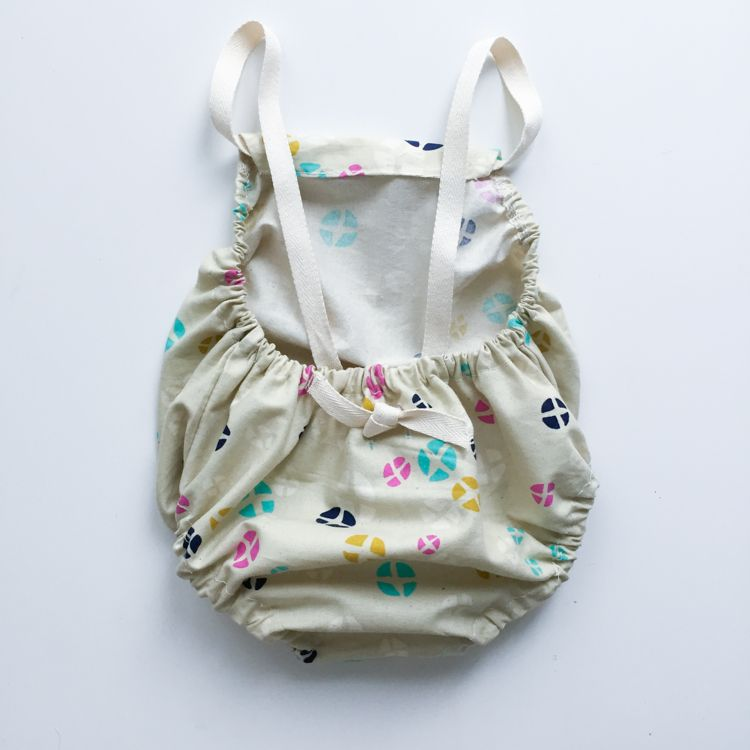Cross Back Baby Romper Tutorial | Schnittmuster baby, Babykleider ...