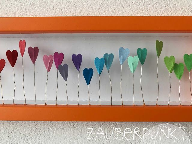 Photo of Gerahmte Herzen { Upcycling – DIY } | *ZAUBERPUNKT* | Bloglovin'