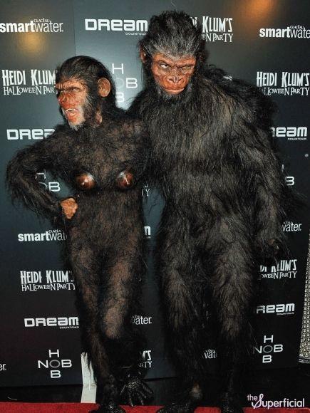 Heidi Klum Monkey Halloween Costume.Pin On Celebrities In Costumes