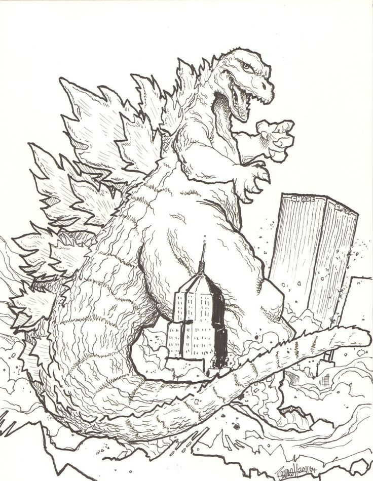 godzilla coloring pages coloring pages