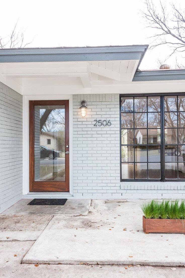 Top Modern Bungalow Design | Bricks, House and Black windows