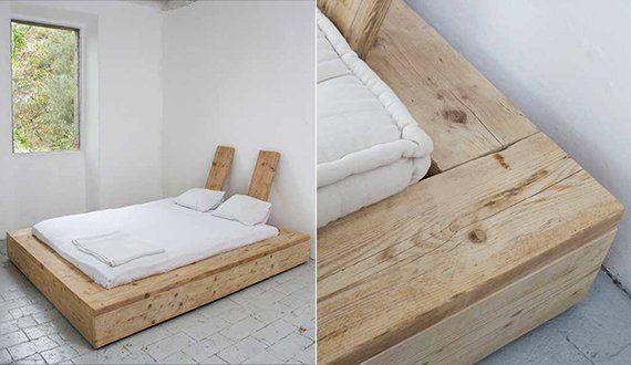 minimalischtisches schlafzimmer design mit bodenfliesen weiß und diy - Schlafzimmer Landhausstil Weiß