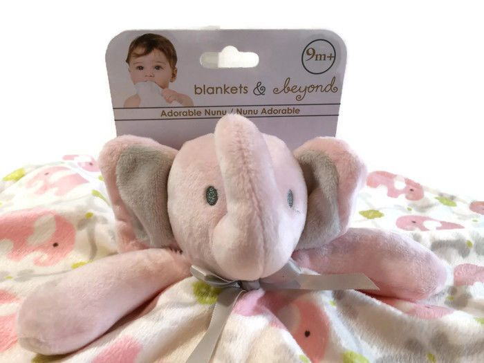Blankets and Beyond Security Blanket Elephant Pink Lovey Baby New   BlanketsandBeyond eff26a223