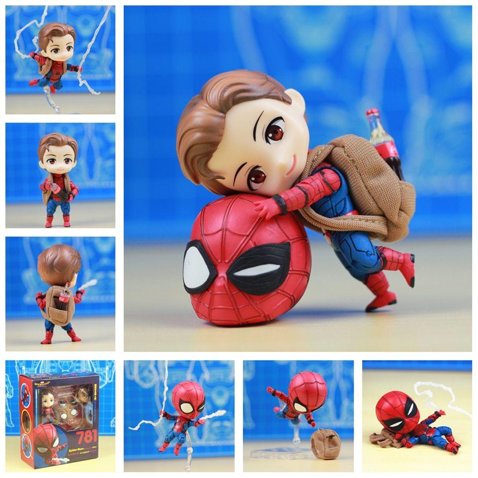 Avengers Spider-man Homecoming Figure Nendoroid 10cm Pvc Spider Man Model Spiderman Figma Toys Toys & Hobbies