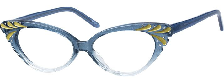 Blue Acetate Full-Rim Frame with Spring Hinges #187616 | Zenni ...