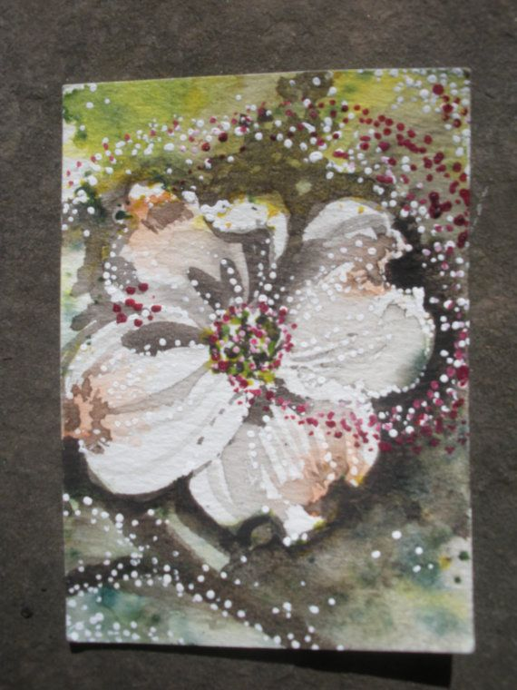 Dogwood Homage ACEO by everyoneisanartist on Etsy, $9.00