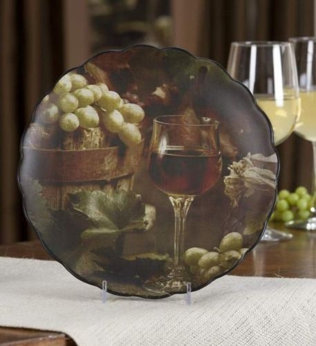 grape themed kitchens | Wine \u0026 grape Tuscan Decorative Wall Plate for kitchen : decorative wine plates - pezcame.com