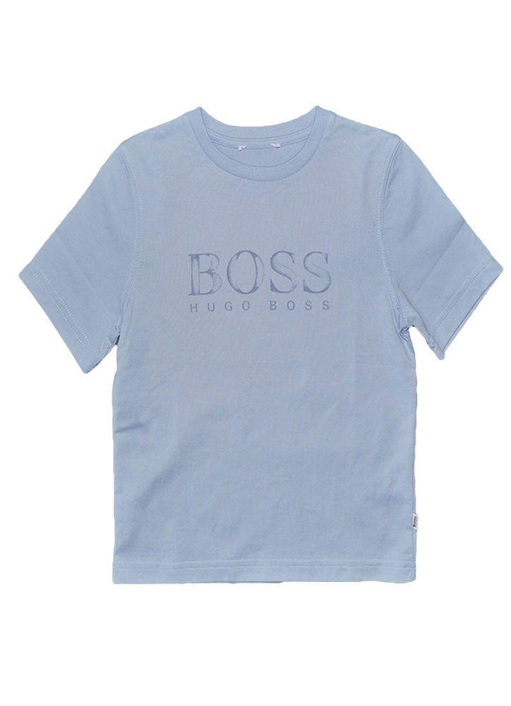 HUGO BOSS Kids T shirt Light Blue Size 4T-12Y 100% Original ...