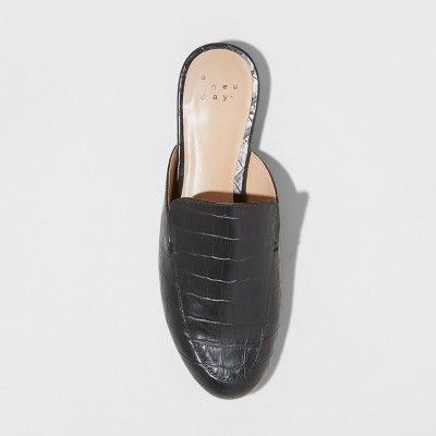 789eb3437228 Women s Anney Wide Width Backless Mules - A New Day Black 6.5W
