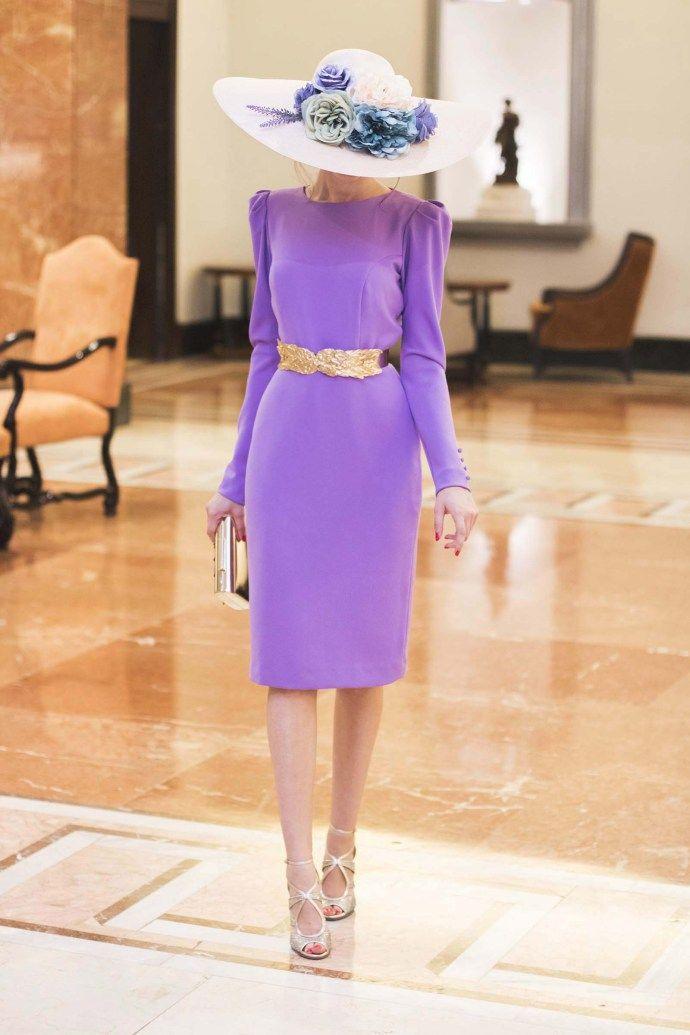 Look invitada boda vestido lila espalda Cho Atelier   Comunión ...